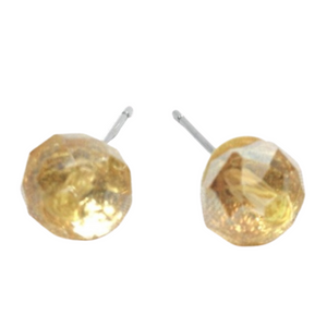 Yellow Circle Stud Earrings
