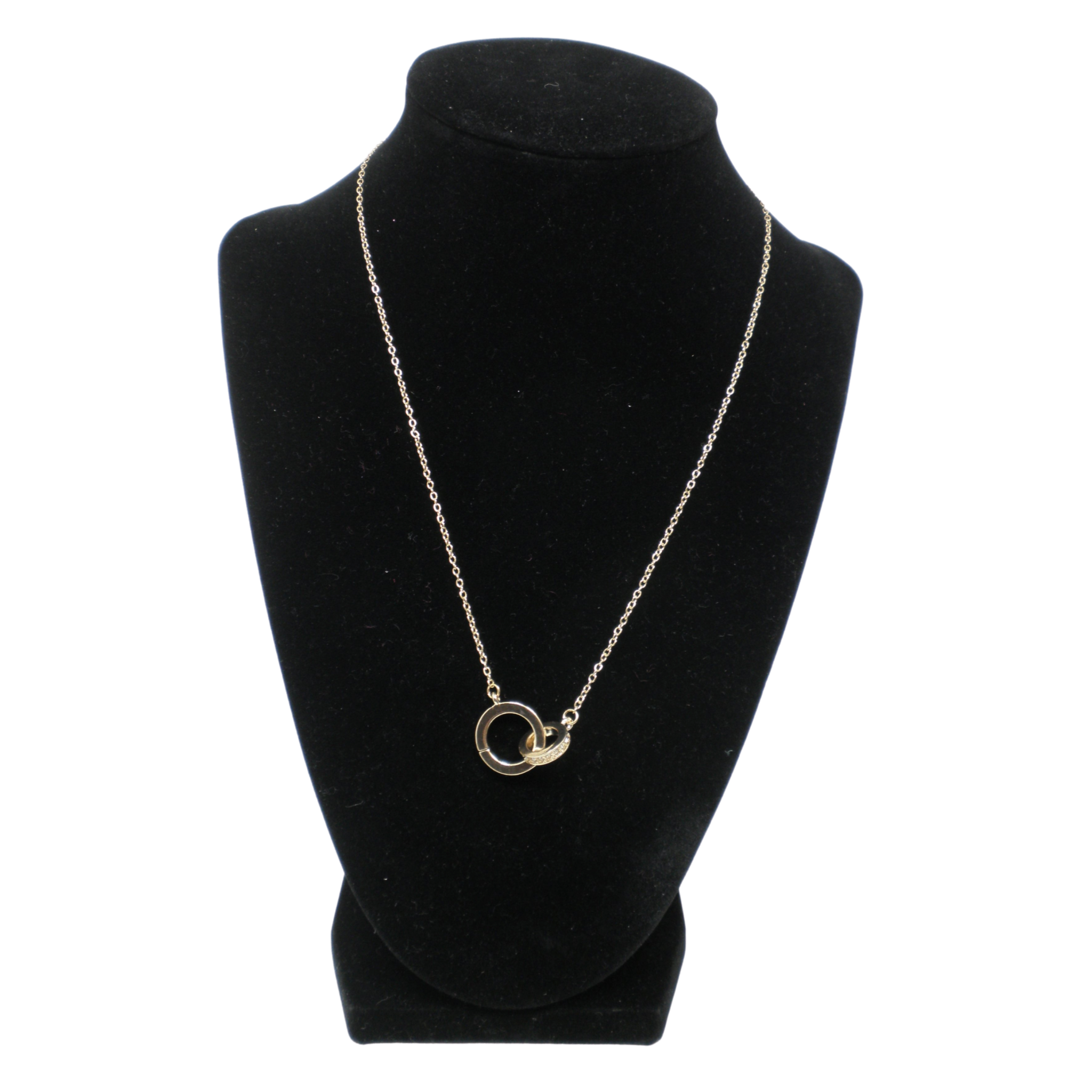 Gold Necklace with Interlocked Circles