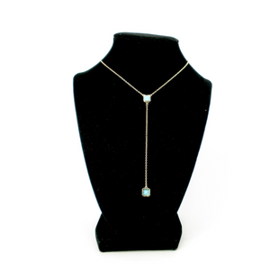 Aqua Squares Necklace
