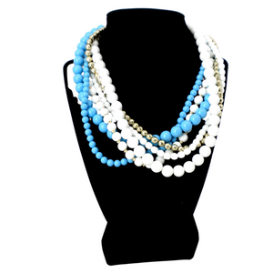 Large Layered Beads Necklace