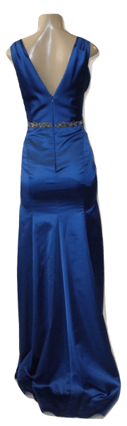 Marchesa Notte Blue Gown With Jewel Detailing- Size Small- Donated By The Designer