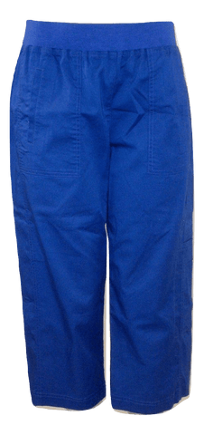 Briggs Royal Blue Capri Pants - Size Medium - Donated From The Designer