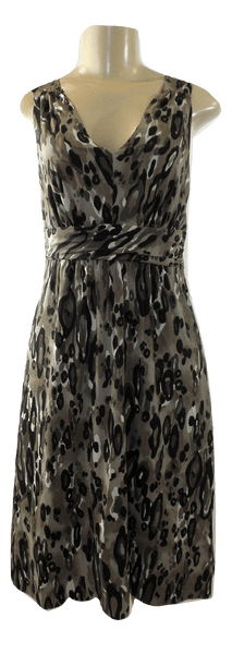 The Limited Brown And Black Cheetah Print Dress - Size 2 - The Fashion Foundation