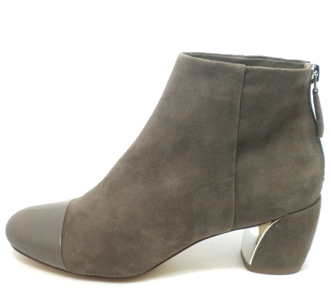 Nine West Tan/Grey Suede Booties - Size 6 - Donated From The Designer