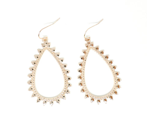 Stella & Ruby Rose Gold Teardrop Earrings - Donated From The Designer - The Fashion Foundation