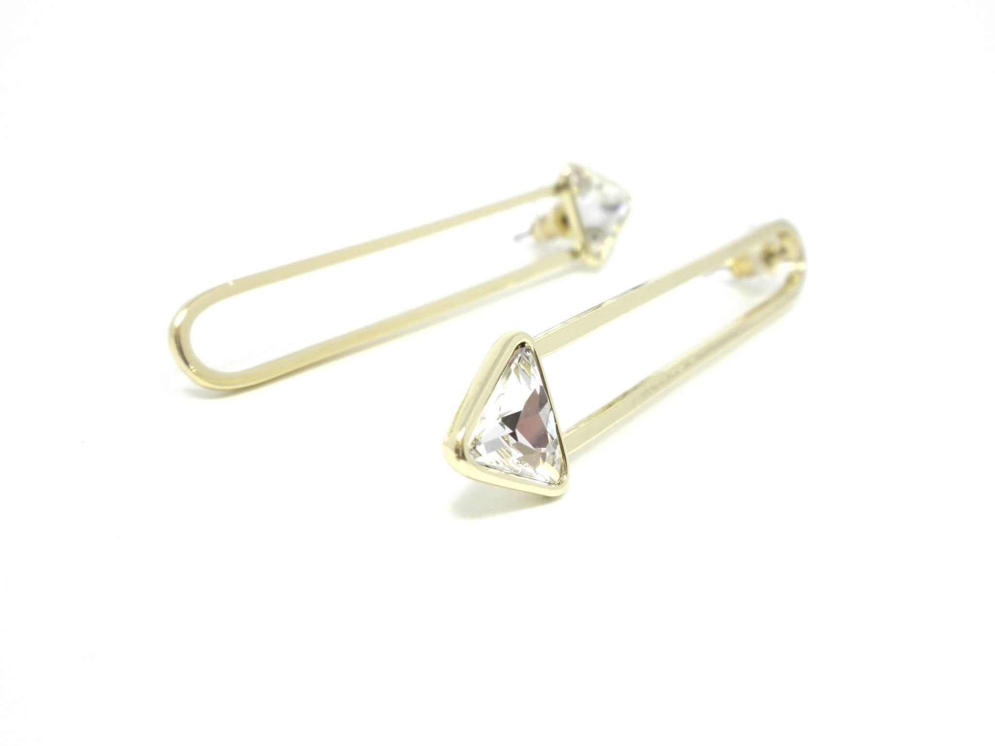 Stella & Ruby Gold Arrow Earrings - Donated From The Designer - The Fashion Foundation