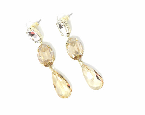 Stella & Ruby Gold and Silver Gem Earrings - Donated From The Designer - The Fashion Foundation