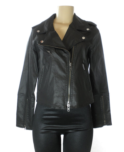 Rebecca Minkoff Black Faux Leather Jacket - Size XS,S - Donated From The Designer - The Fashion Foundation