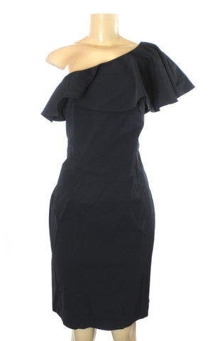 Minan Wong One Shoulder Black Dress - Size 4 - Donated From The Designer