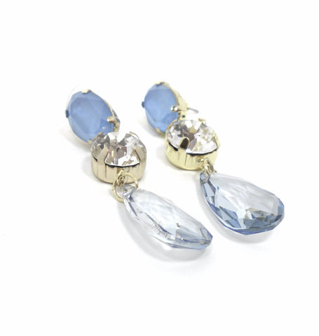 Stella & Ruby Blue and Silver Gem Earrings - The Fashion Foundation