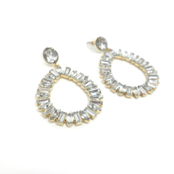 Stella & Ruby Silver Teardrop Statement Earrings - Donated From The Designer - The Fashion Foundation