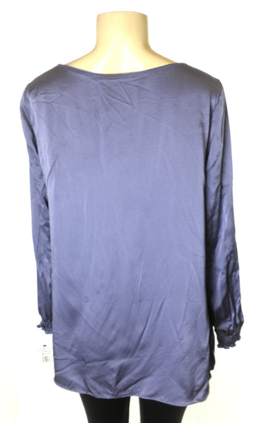 Lafayette 148 Blue Long Sleeve Top - Size Small - The Fashion Foundation