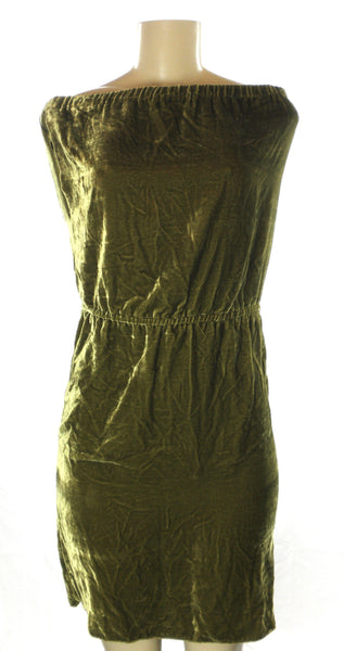 Minan Wong Green Velvet Dress - Size Small & Medium - Donated From Designer - The Fashion Foundation
