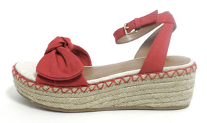 Faryl Robin Red Espadrille Wedge - Size 6 - The Fashion Foundation