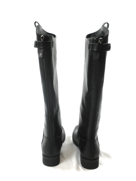 Amazon Essentials Black Faux Leather Boots - Size 8 - Donated From Designer