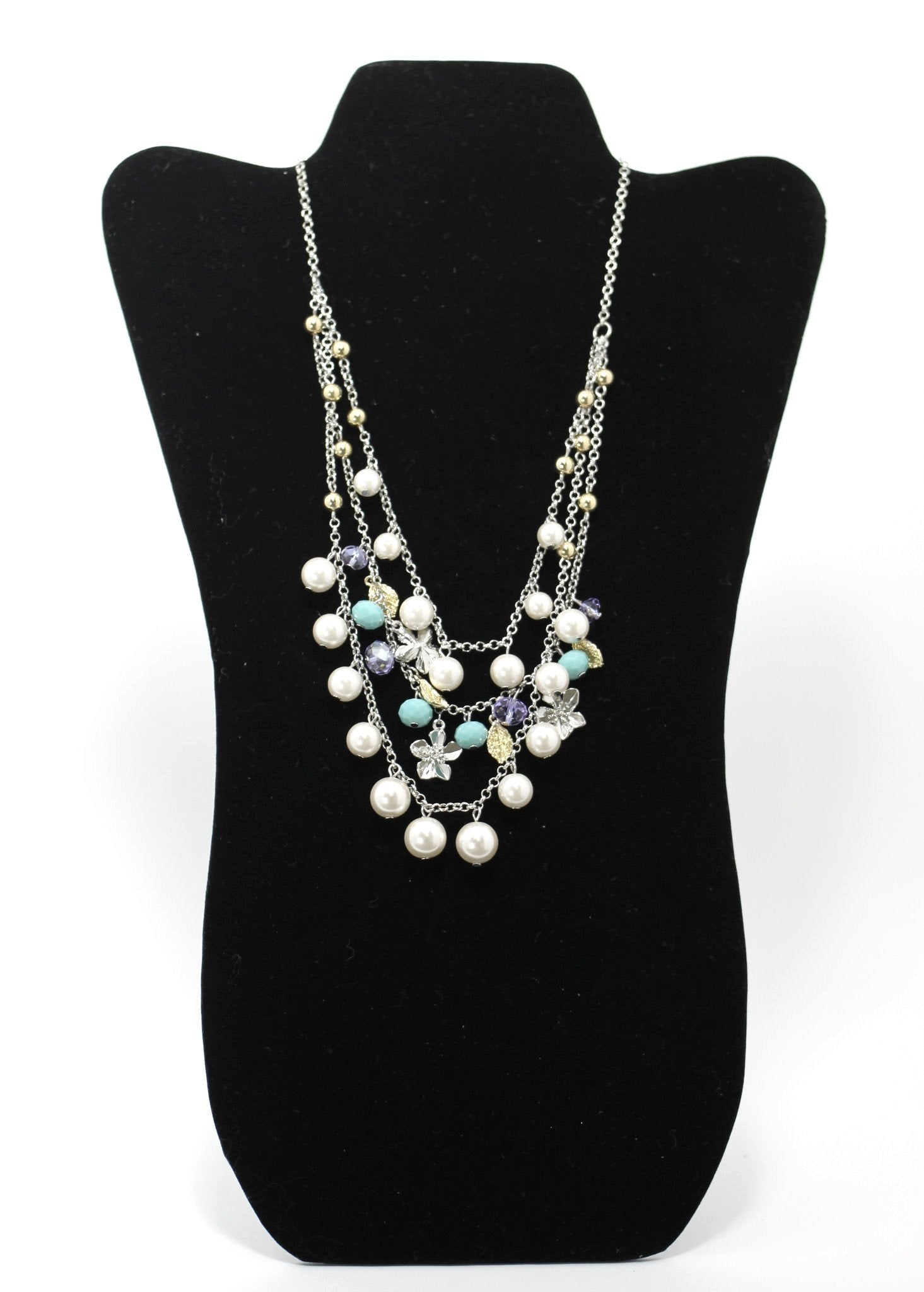 Colorful Beaded Pearl Necklace - The Fashion Foundation