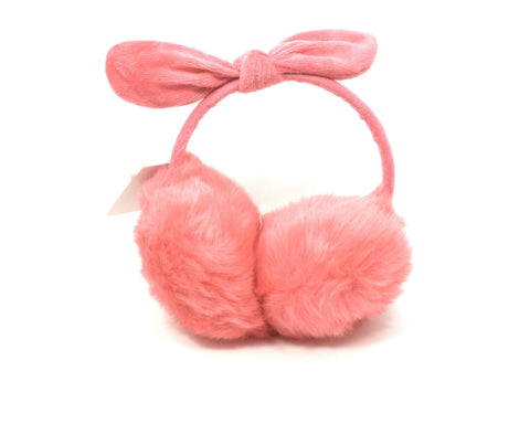 Pink Bow Faux Fur Earmuffs - The Fashion Foundation - {{ discount designer}}