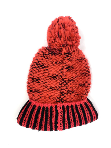 Plush Apparel Red and Black Winter Hat