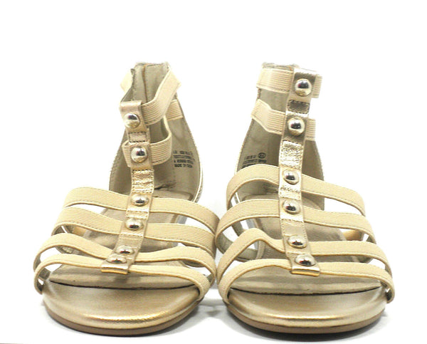 Aerosoles Gold Strappy Sandal - Size 6 - Donated From The Designer
