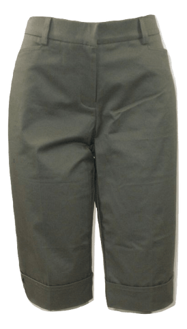 Briggs Olive Green Mid-Length Shorts - Size Medium - Donated From The Designer