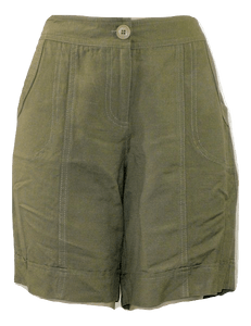 Briggs Olive Green Shorts - Size Medium - Donated From The Designer