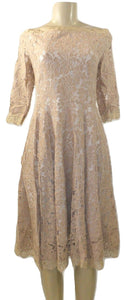 Cistar Nude Lace Off The Shoulder Dress- Size S,M,L- Donated From The Designer