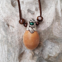 Load image into Gallery viewer, Cowrie Terracotta/Malachite Necklace