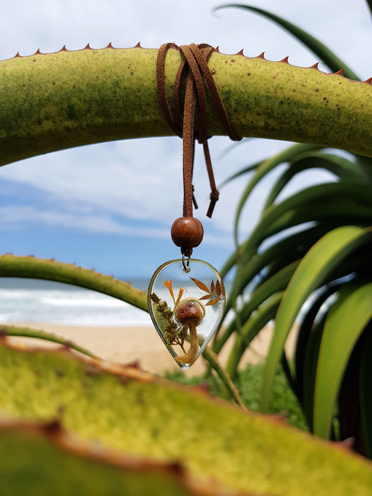 Teardrop Shroom Necklace