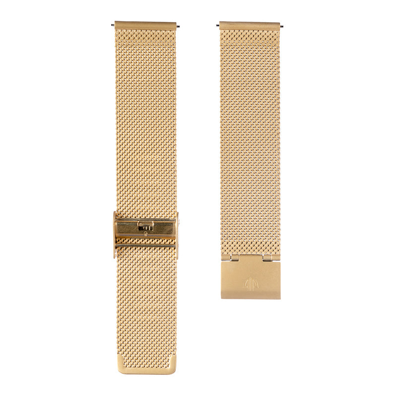 The Classic White and Gold Mesh Watch