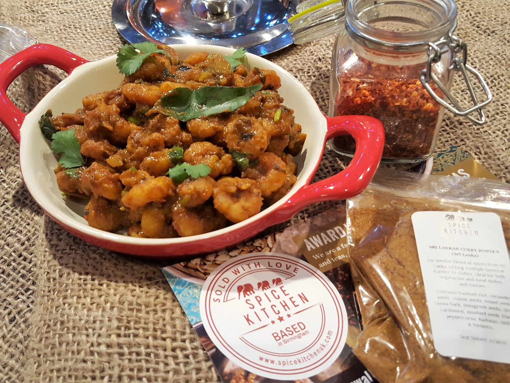 Dry Prawn Masala Curry by Brinda's Mauritius Delights