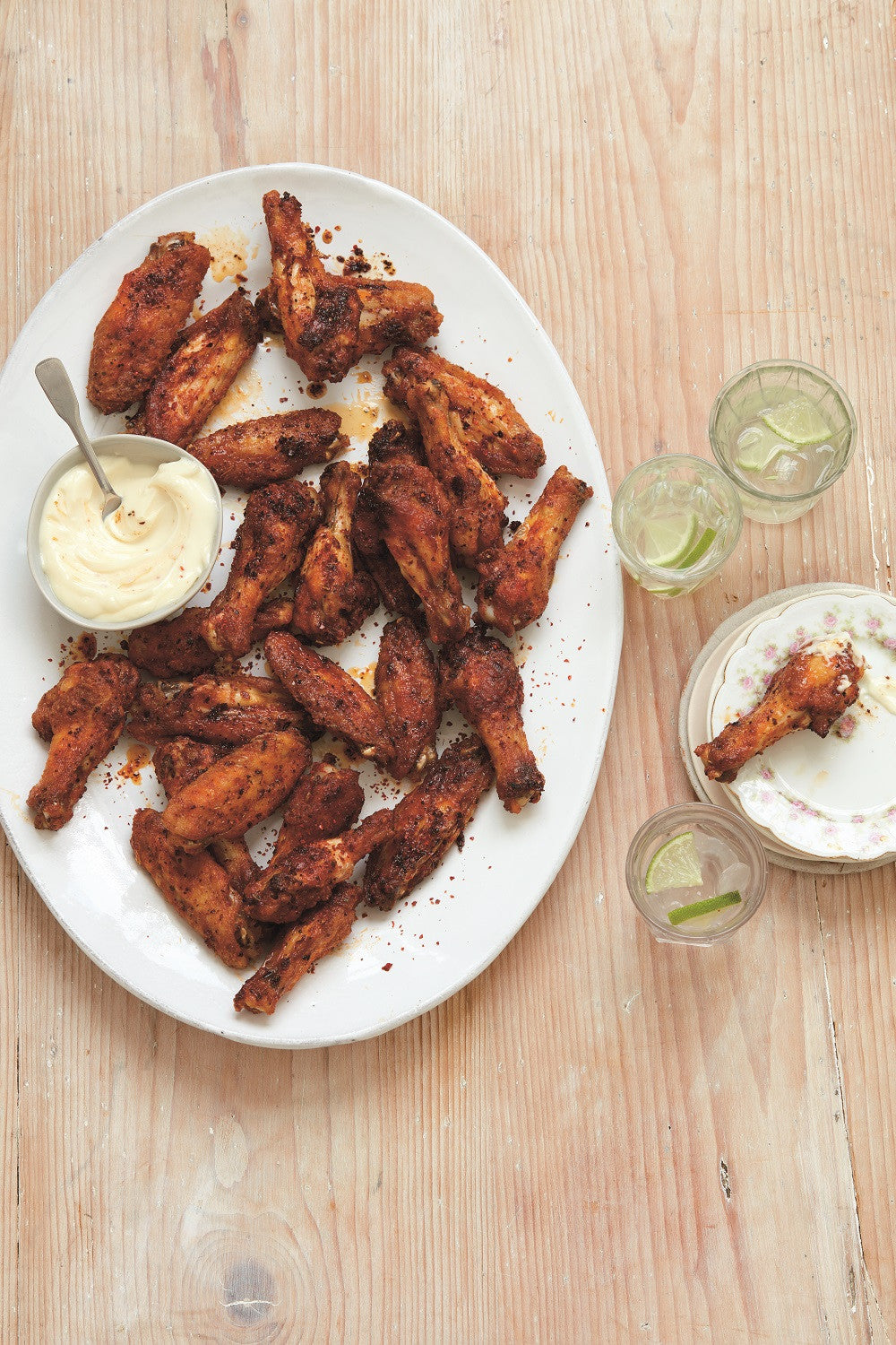 Crispy Baked Chicken Wings with Aleppo Pepper by Emma