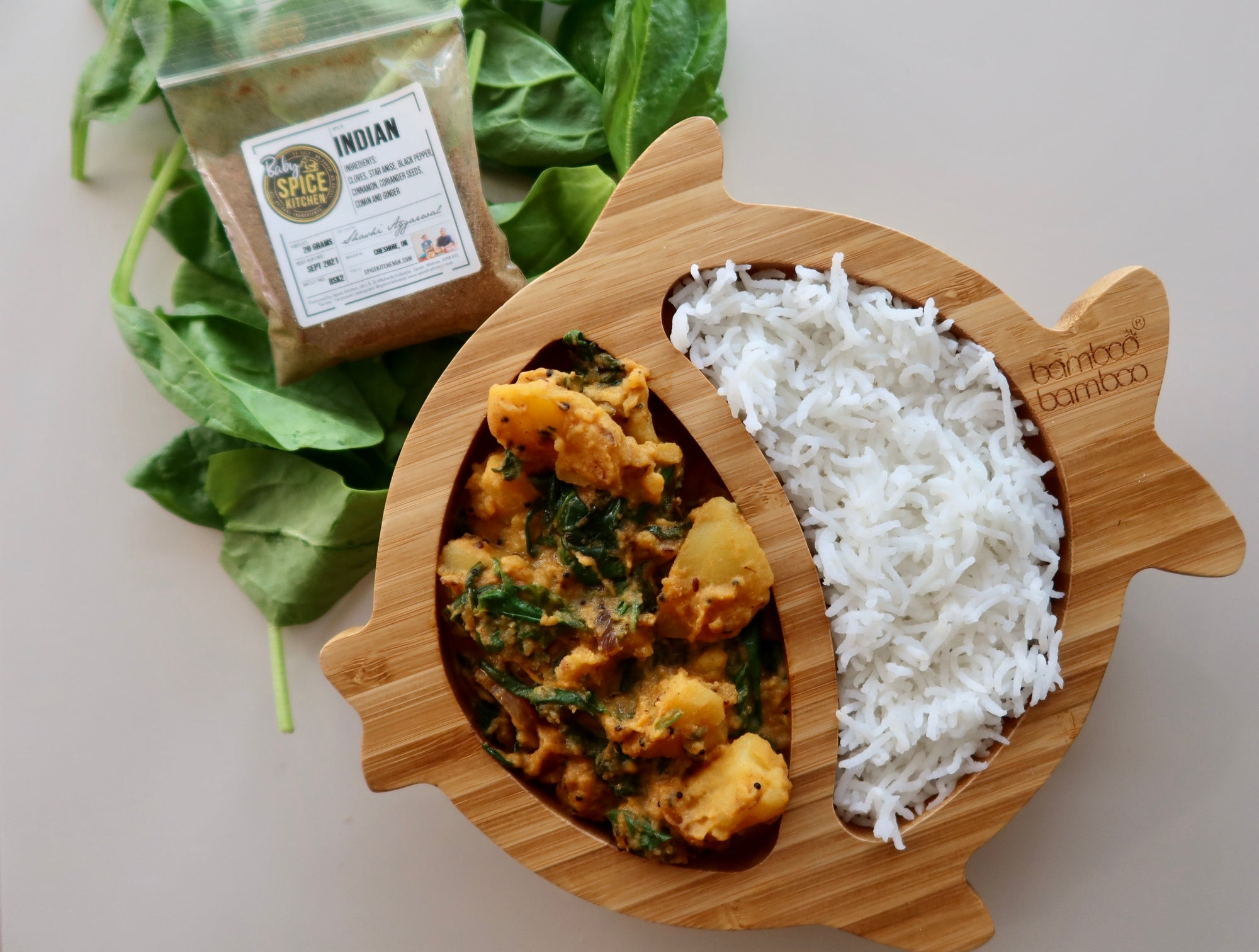 Little Saag Aloo by Reena Patel