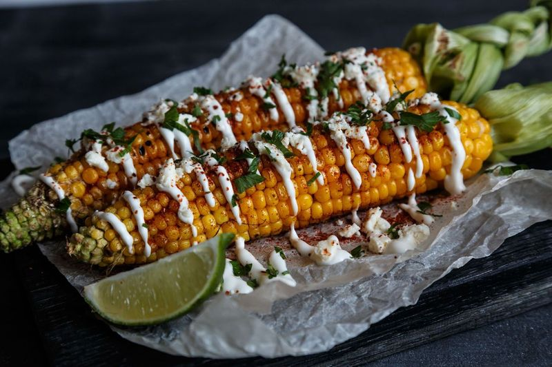 Grilled Corn with Kashmiri Chilli & Lime