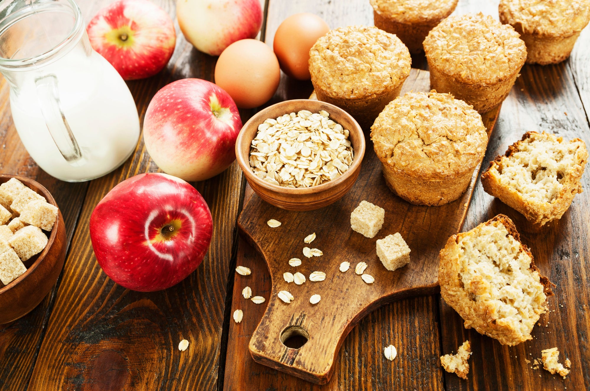 Gingerbread and Applesauce Oat Muffins