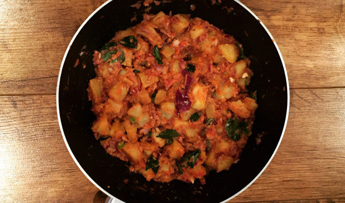 Potato, cumin and curry leaf curry by Binnys Kitchen