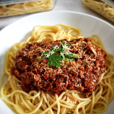 SPICY SPAGHETTI BOLOGNESE BY MANI