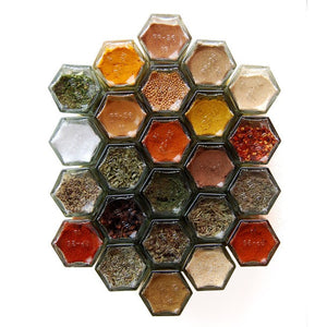Hexagonal Magnetic Spice Jar (Empty) - Spice Kitchen - Spices, Spice Blends, Gifts & Cookware
