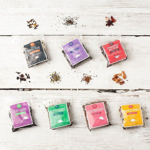 Loose Leaf Tea Gift Set Tin With Silk Sari Wrap and Tea Diffuser // 6 Units Wholesale (£19.50 each) - Spice Kitchen - Spices, Spice Blends, Gifts & Cookware