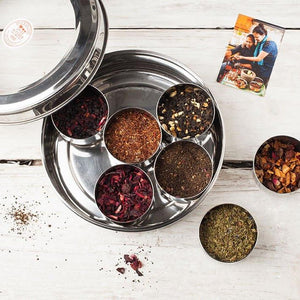 7 Loose Leaf Tea Gift Set Tin and Tea Diffuser - Spice Kitchen - Spices, Spice Blends, Gifts & Cookware
