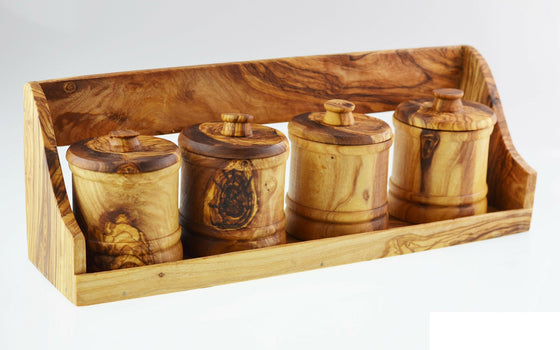 Olive Wood Spice Rack - Spice Kitchen UK - Spices, Spice Blends, Gifts & Cookware - 1