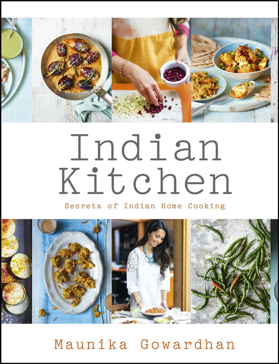 'Indian Kitchen' by Maunika Gowardhan & Spice Tin, 10 Spices & Handmade Silk Sari Wrap - Spice Kitchen UK - Spices, Spice Blends, Gifts & Cookware - 1