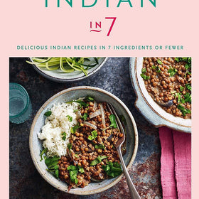 Signed Cookbook 'Indian in 7' by Monisha Bharadwaj & Spice Tin, 9 Spices & Handmade Silk Sari Wrap