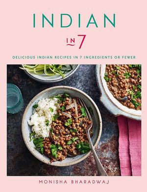 Signed Cookbook 'Indian in 7' by Monisha Bharadwaj & Spice Tin, 9 Spices & Handmade Silk Sari Wrap - Spice Kitchen - Spices, Spice Blends, Gifts & Cookware
