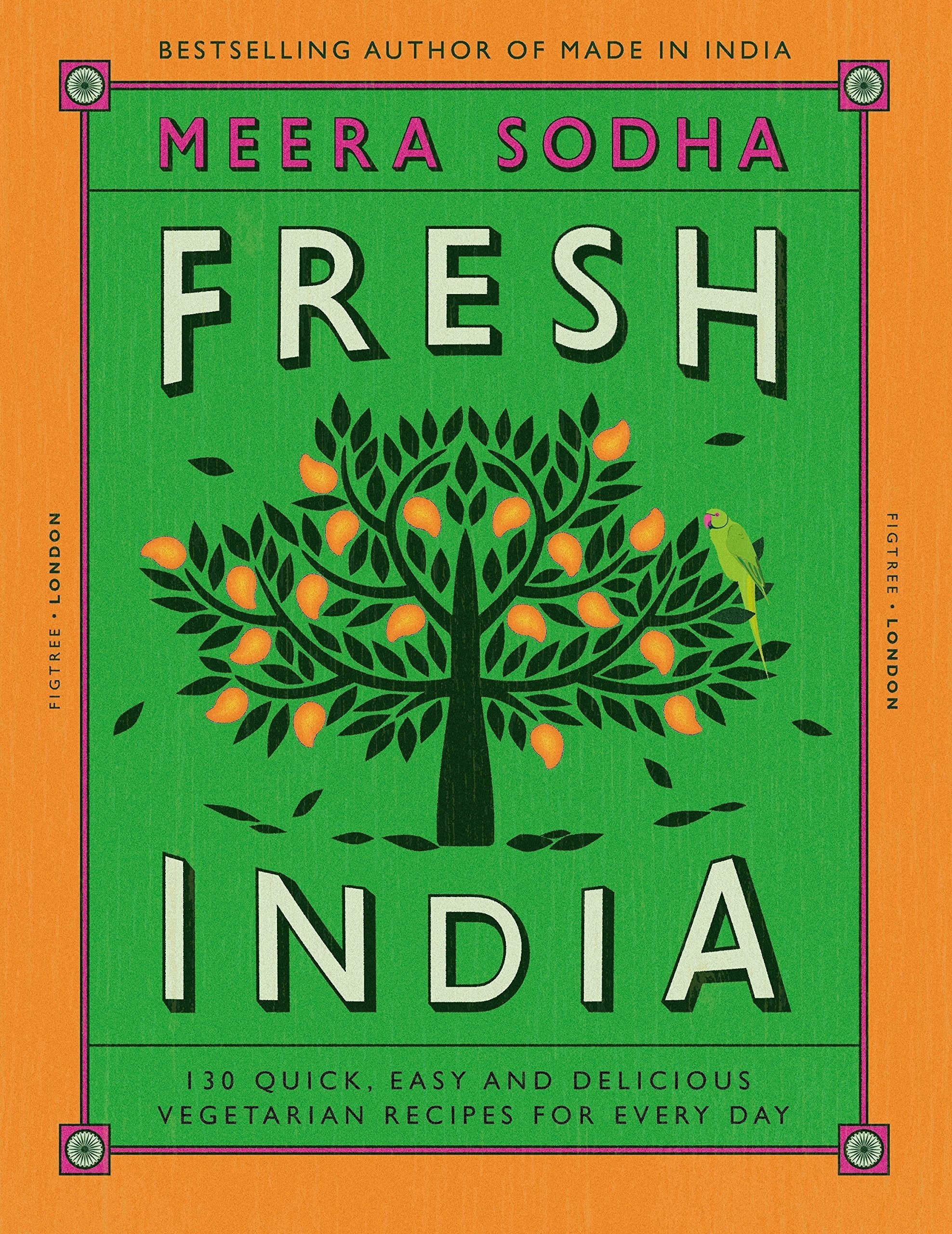 'Fresh India' by Meera Sodha & Spice Tin, 9 Spices & Handmade Silk Sari Wrap - Spice Kitchen - Spices, Spice Blends, Gifts & Cookware