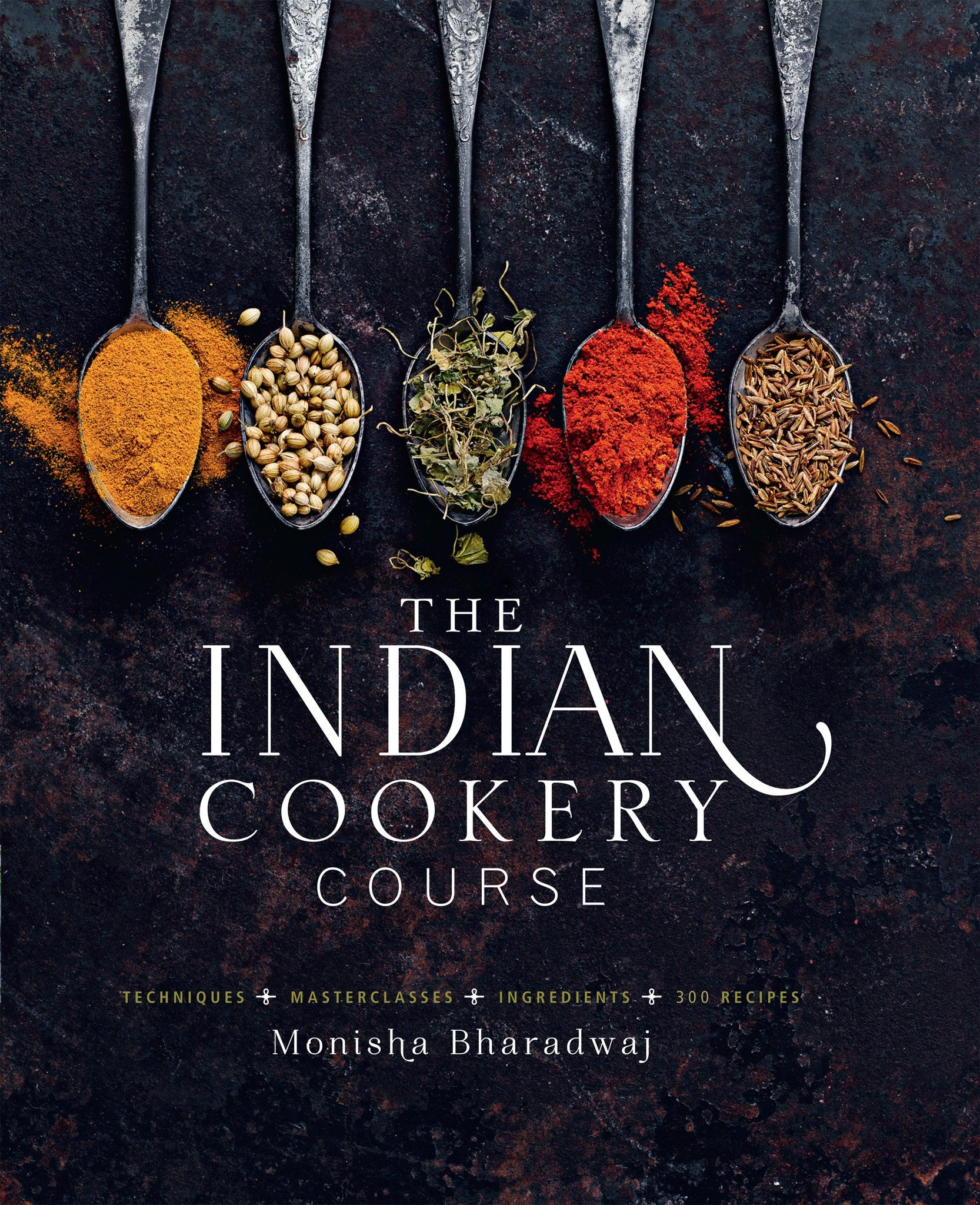 Monisha Bharadwaj 'The Indian Cookery Course ' Signed Copy & Spice Tin, 9 Spices & Handmade Silk Sari Wrap - Spice Kitchen - Spices, Spice Blends, Gifts & Cookware