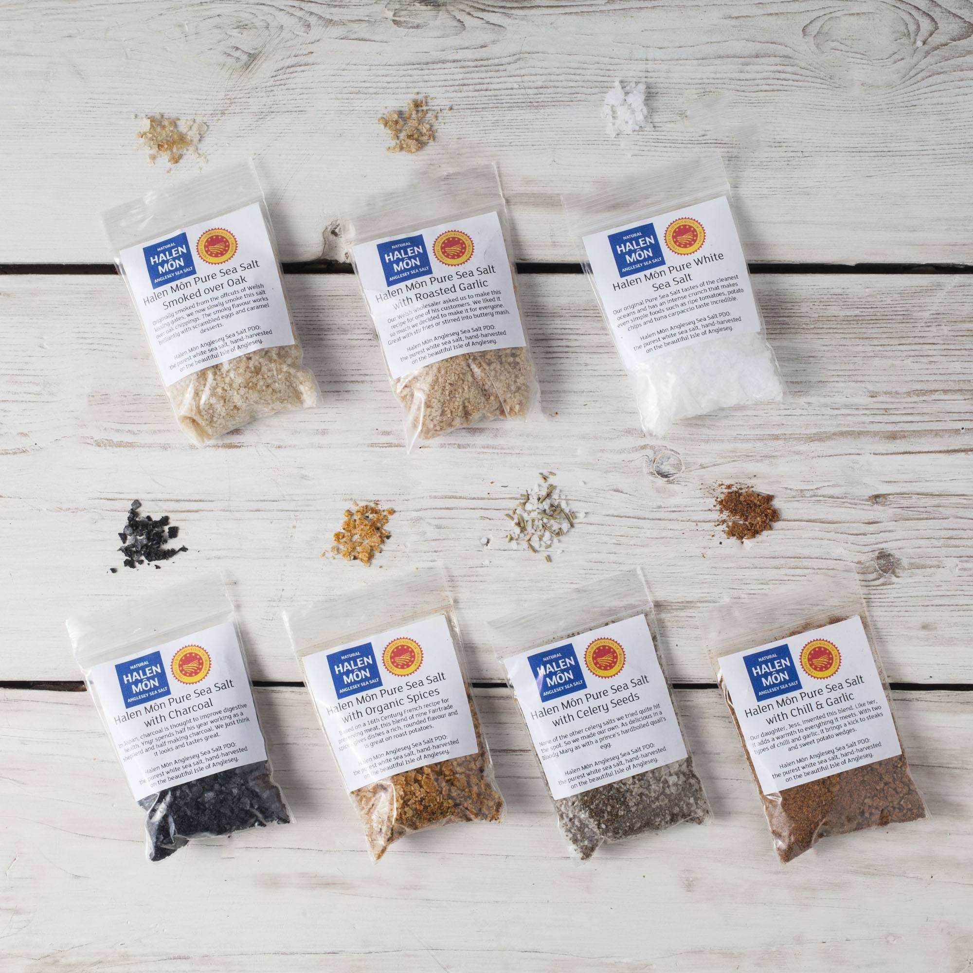 Halen Môn Flavoured Sea Salts Collection with 7 Flavoured Salts - Spice Kitchen™ - Spices, Spice Blends, Gifts & Cookware