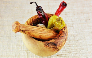 14cm Olive Wood Pestle and Mortar - 'Round' - Spice Kitchen™ - Spices, Spice Blends, Gifts & Cookware