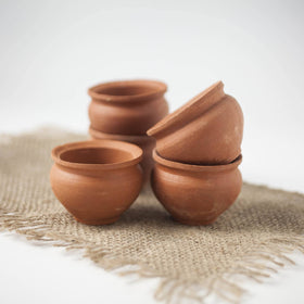 Biodegradeable Clay Chai Cups - Various Sizes - Spice Kitchen - Spices, Spice Blends, Gifts & Cookware