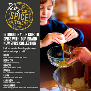 Baby Spice Collection with Map and Stickers - Spice Kitchen™ - Spices, Spice Blends, Gifts & Cookware