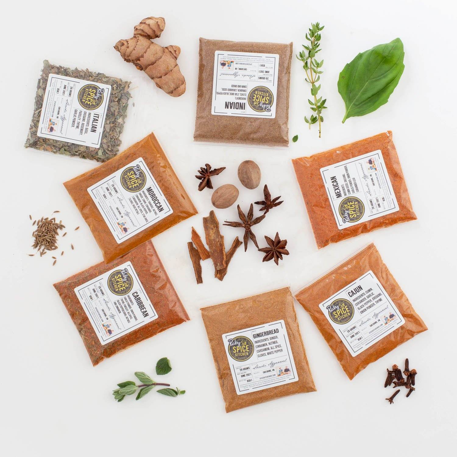 Baby Spice Kitchen Singles - Introduce Your Kids to Spice With Our Brand New Spice Collection - Spice Kitchen - Spices, Spice Blends, Gifts & Cookware